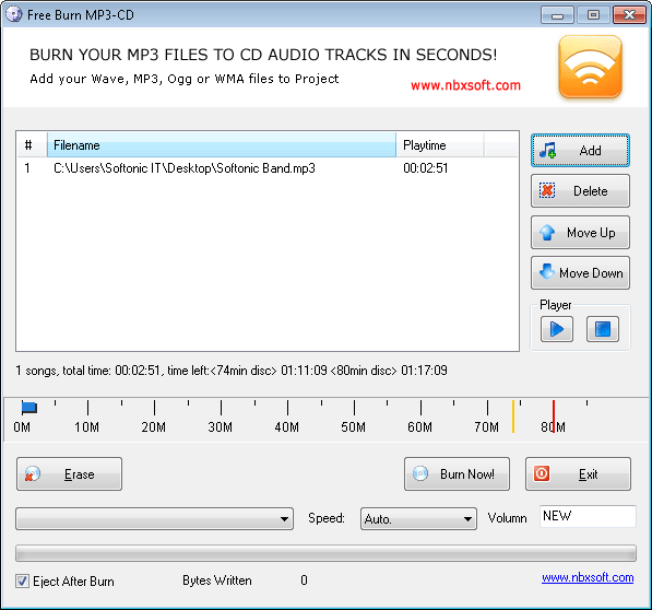 Free Burn MP3-CD