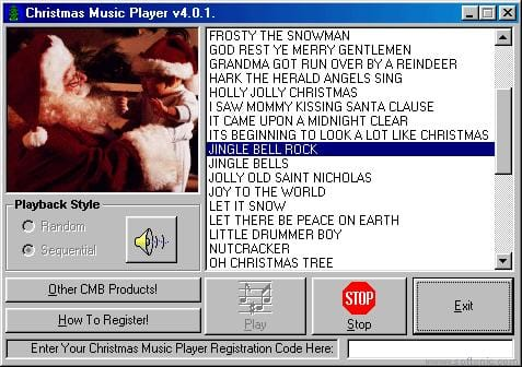 Christmas Music Player