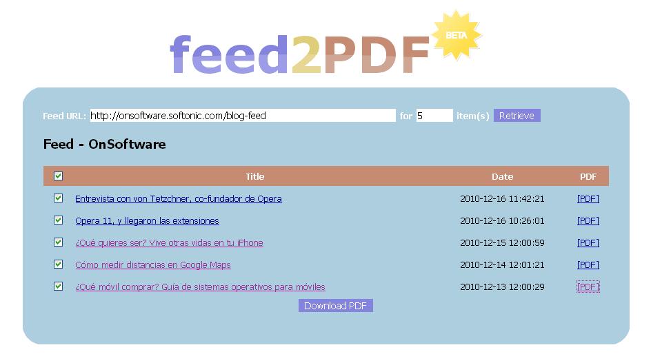 feed2PDF