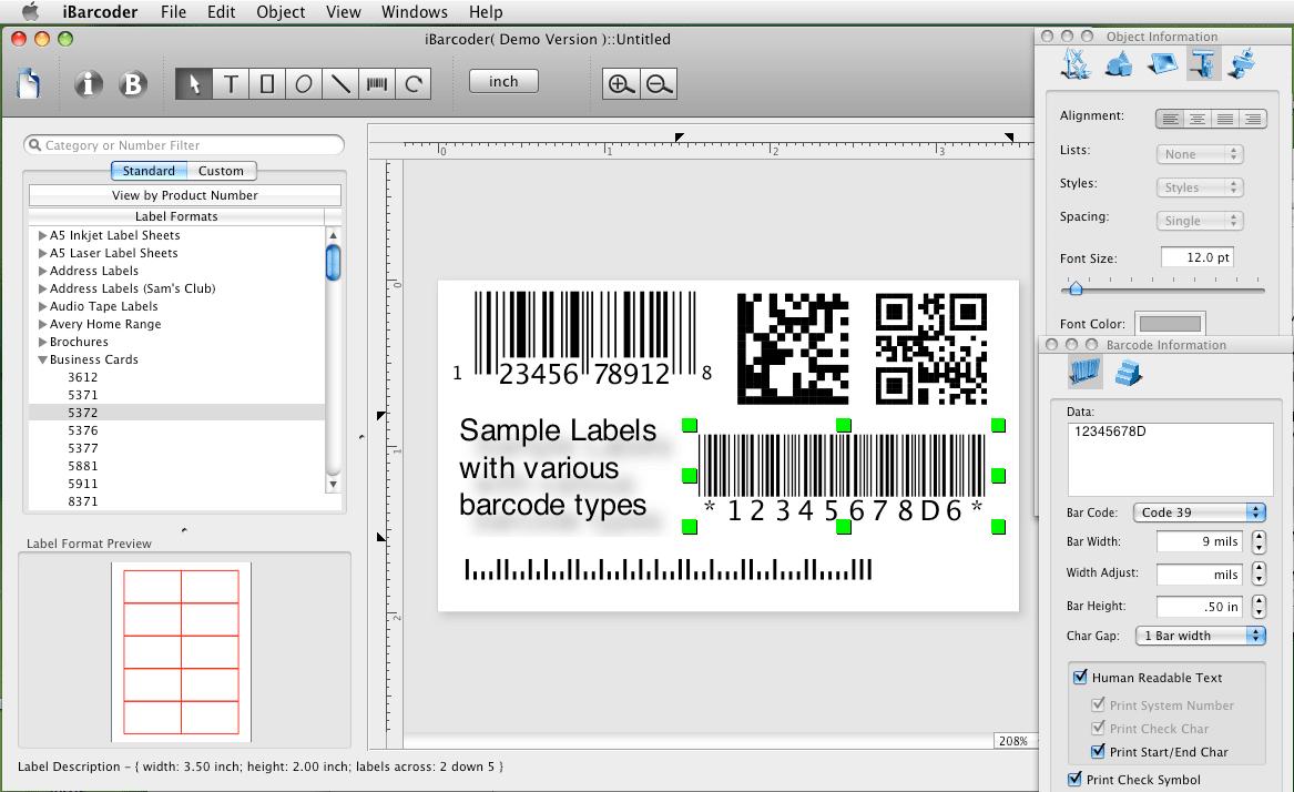 iBarcoder - Mac Barcode Generator