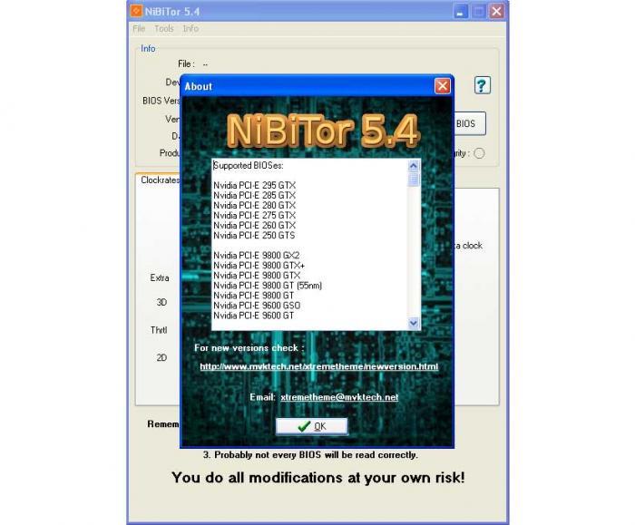 NVIDIA BIOS Editor