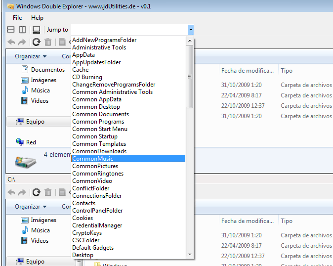 Windows Double Explorer