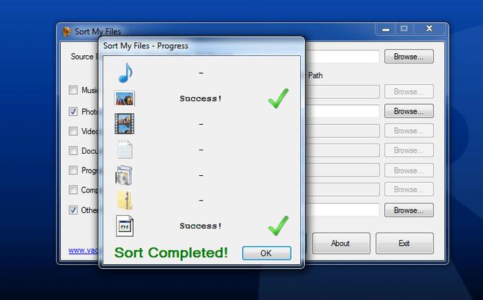 Sort My Files