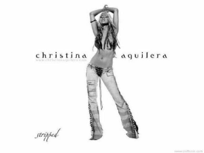 Christina Aguilera Stripped Wallpaper