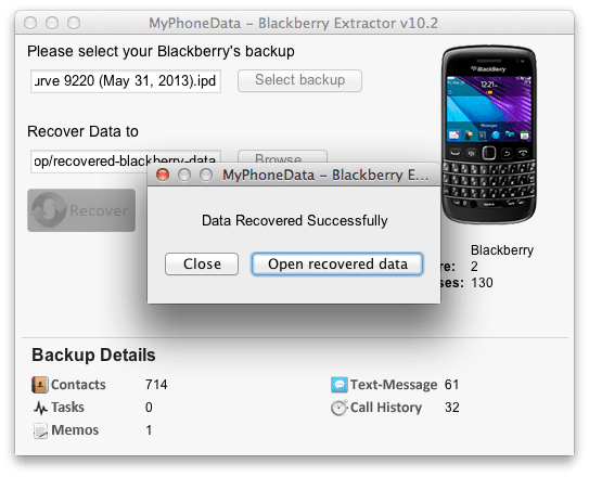 Blackberry Extractor (Mac)