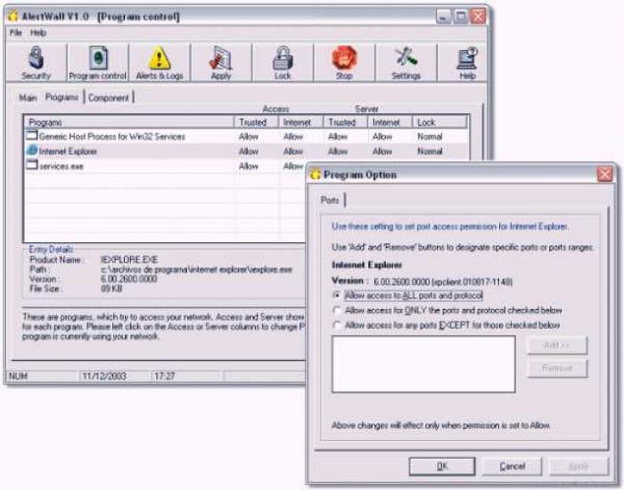 Alertwall Personal Firewall