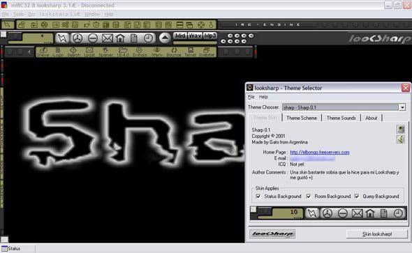looksharp IRC Chat para mIRC