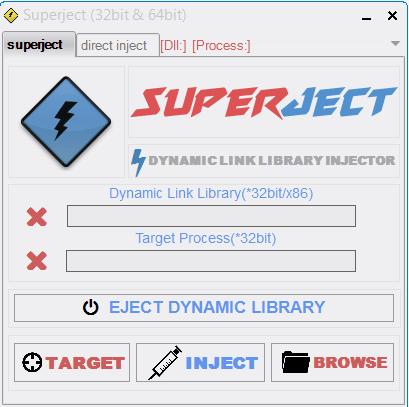 Superject 32 bit & 64 bit Dll Injector