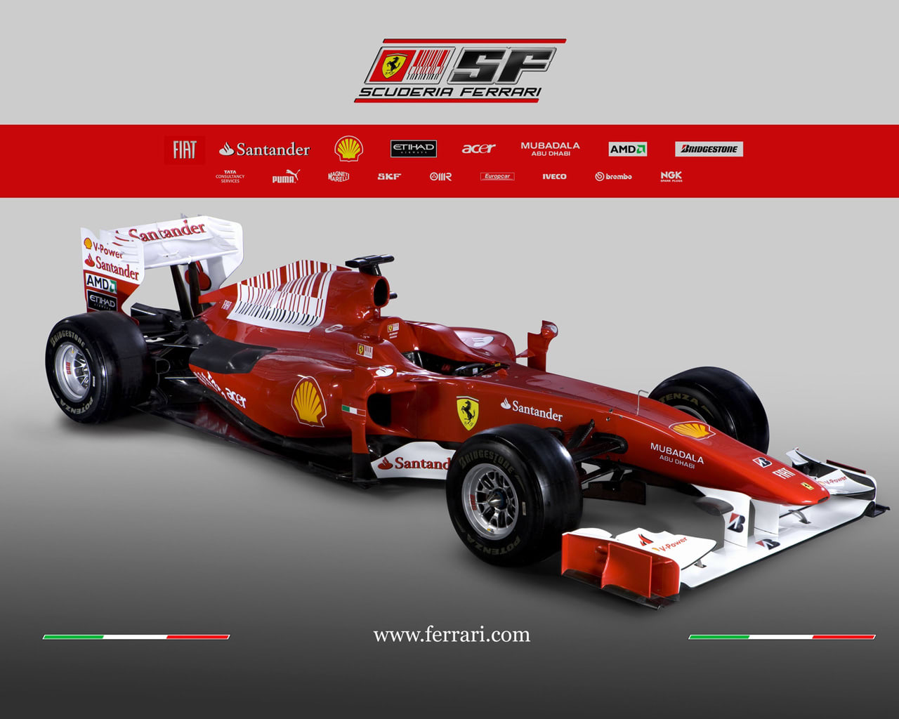Ferrari F10 Wallpaper