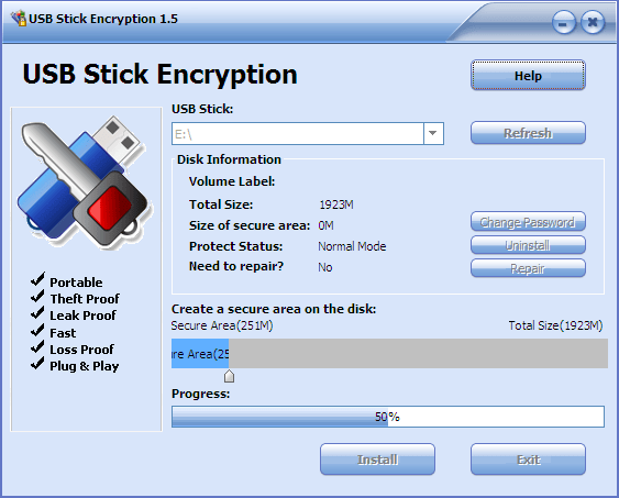 Gili USB Stick Encryption