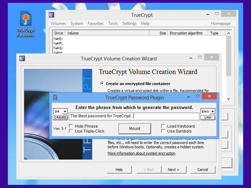 TrueCrypt Password Plugin