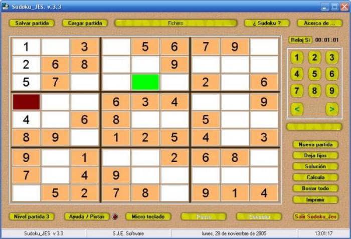 Sudoku Jes