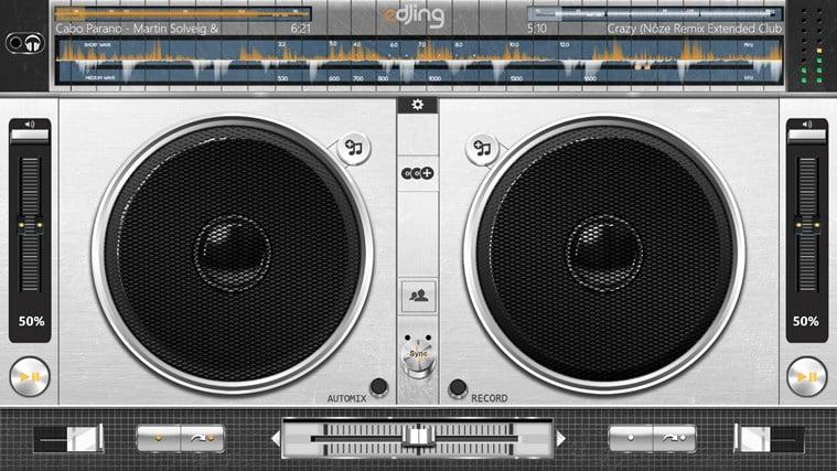 edjing DJ studio music mixer para Windows 10