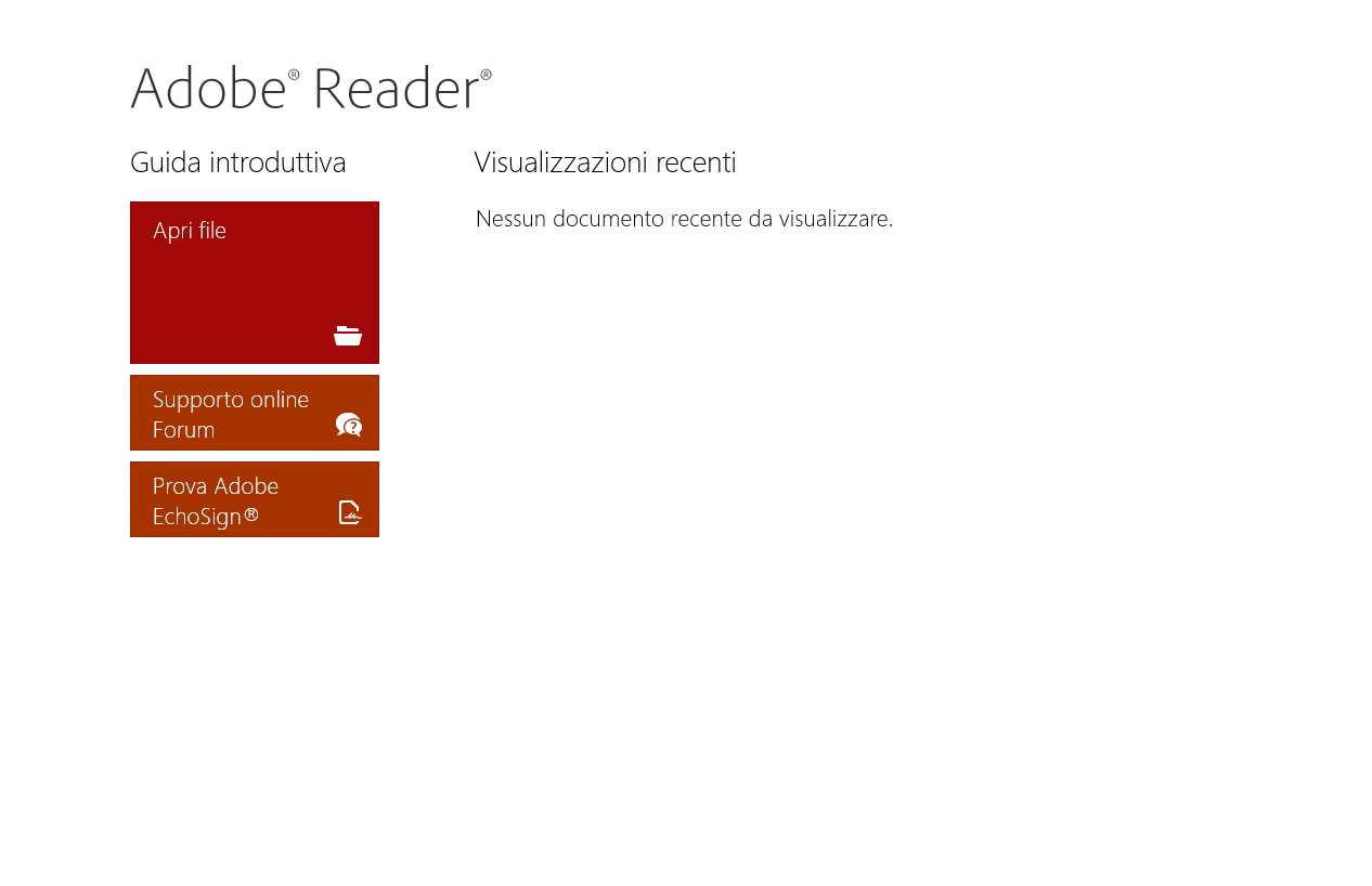 Adobe Reader Touch per Windows 10
