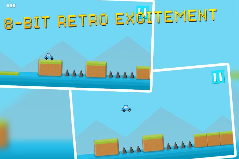 Jump Car Retro : 8bit Arcade Challenge
