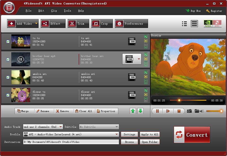 4Videosoft AVI Video Converter