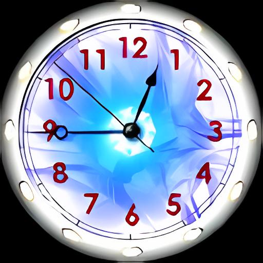 Alien Sun Clock Screensaver
