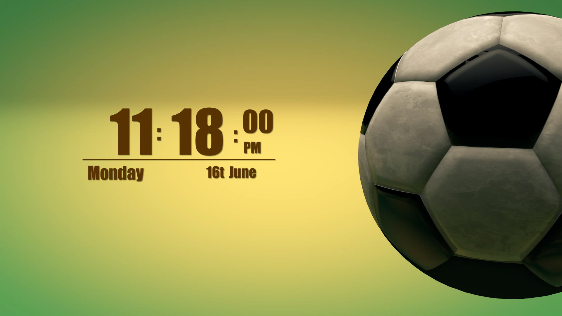 Soccer Kick Android Clock