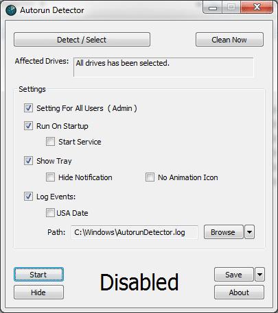 Autorun Detector
