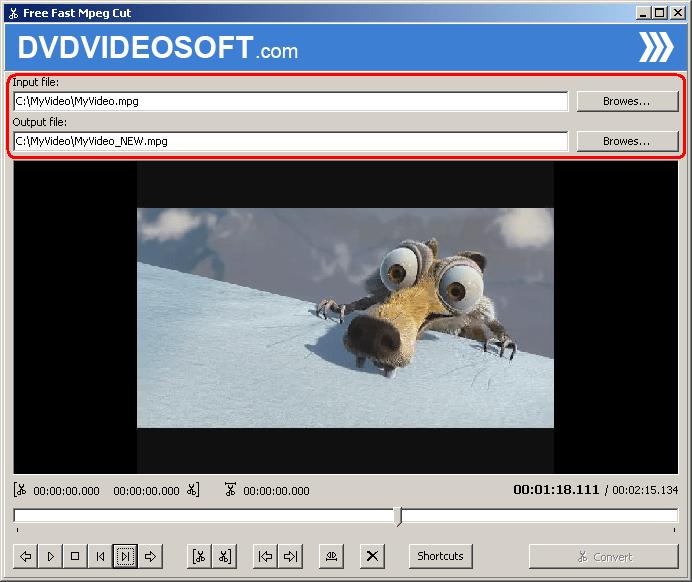 Free Fast MPEG Cut