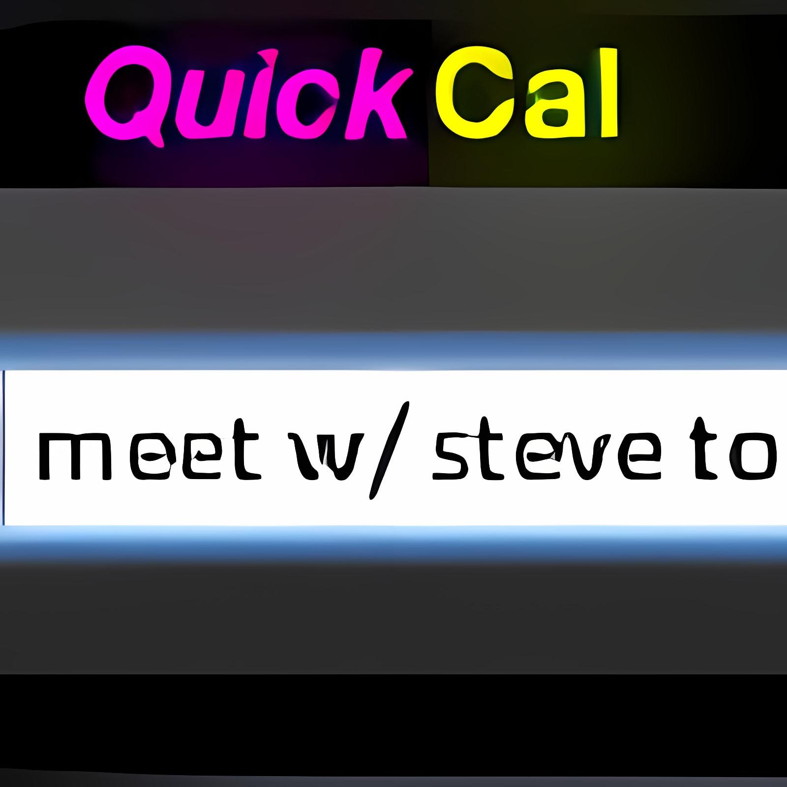 QuickCal Widget