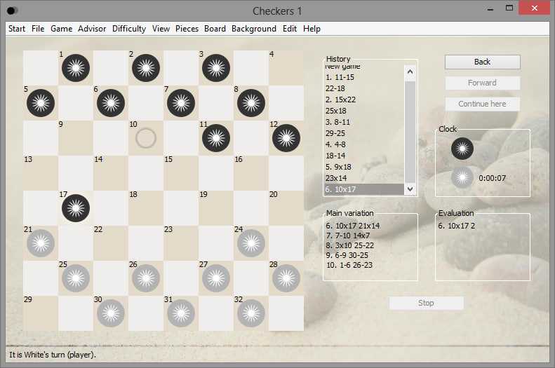 how to play checkers king