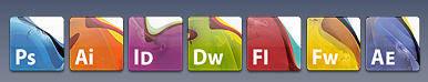 Icônes de substitution Adobe Creative Suite 3