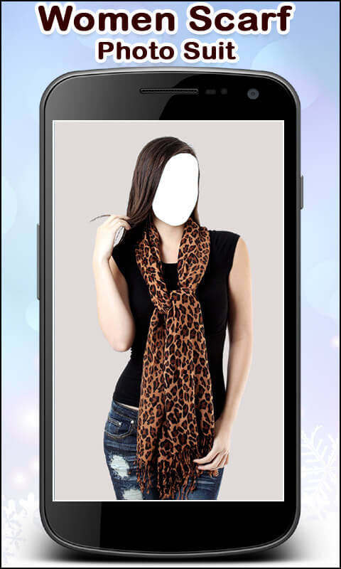 Women Scarf Photo Suit New