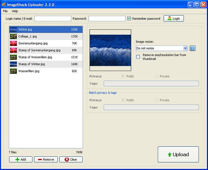 Imageshack Uploader