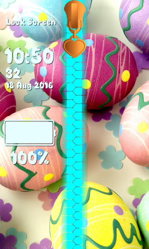 Easter Zipper Lock Screen