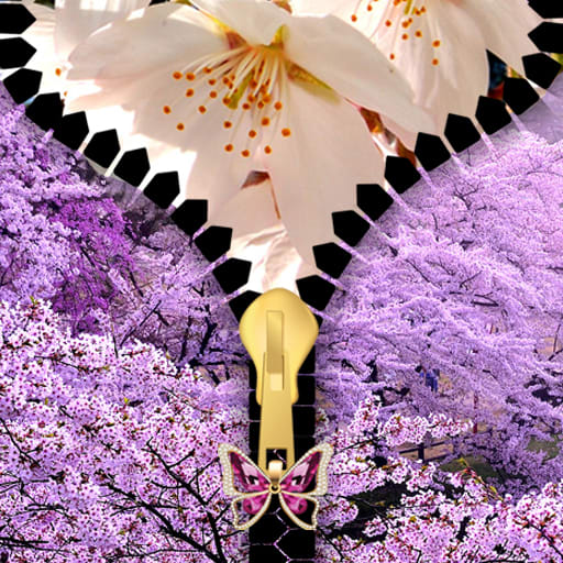Sakura Zipper Lock Screen