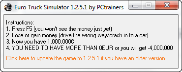 Euro Truck Simulator 2 +1 Trainer