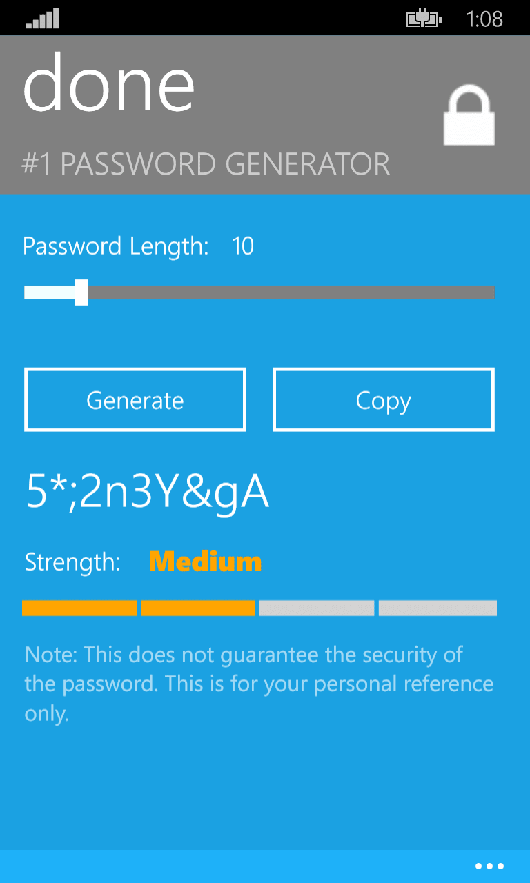 #1 Password Generator
