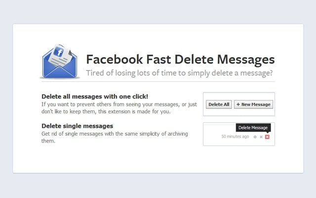 Facebook fast delete messages download as opposed to utilizing the normal facebook algorithm this application embeds a delete option directly within the inbox folder of the user ccuart Choice Image