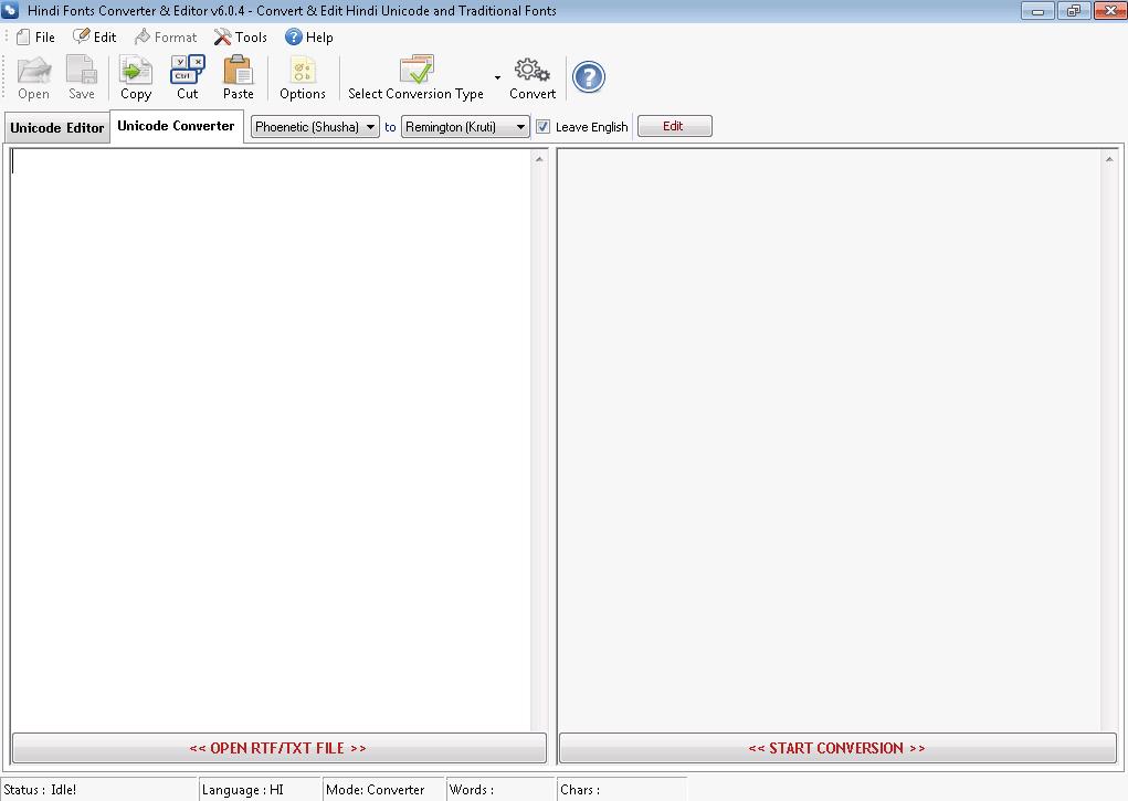 Hindi Fonts Converter & Editor
