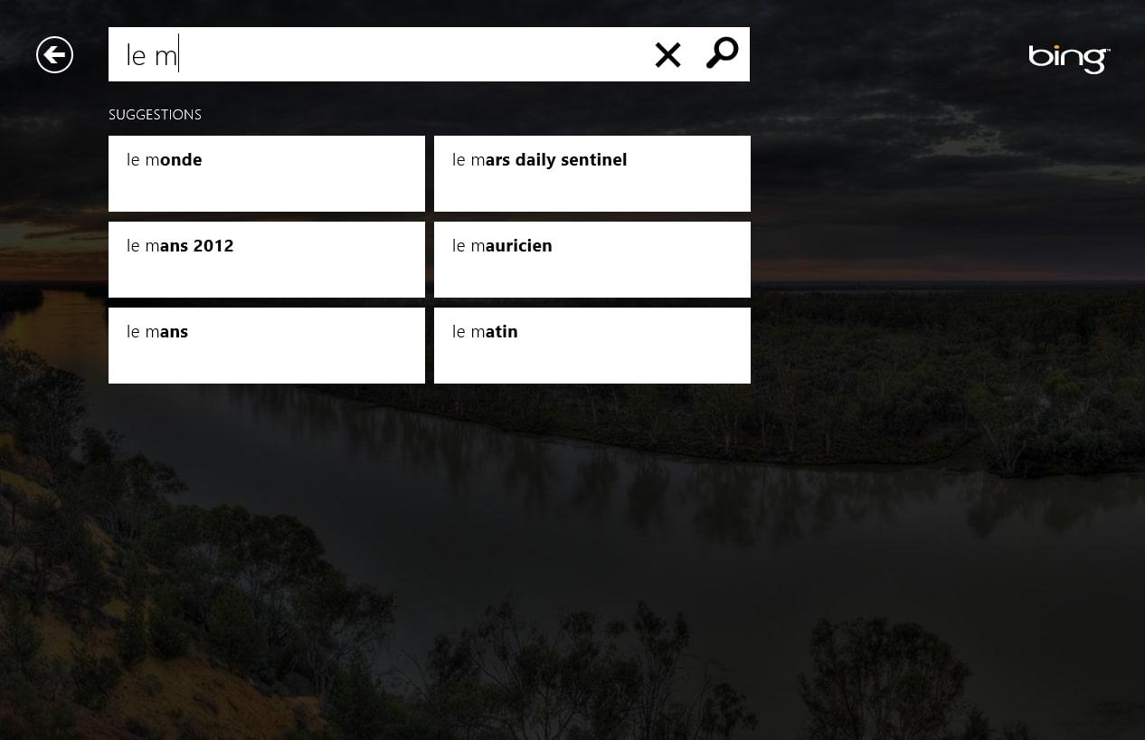 Bing for Windows 10