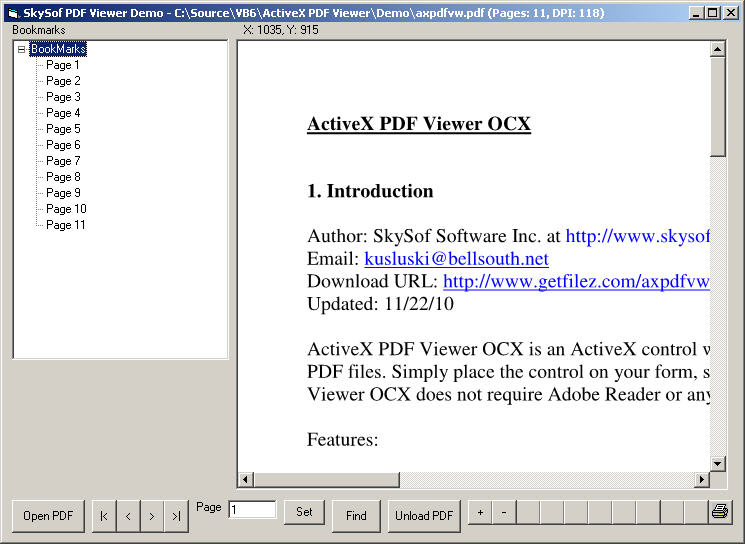 ActiveX PDF Viewer