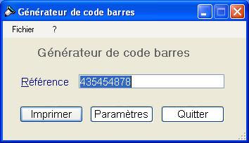 Editeur de code barres