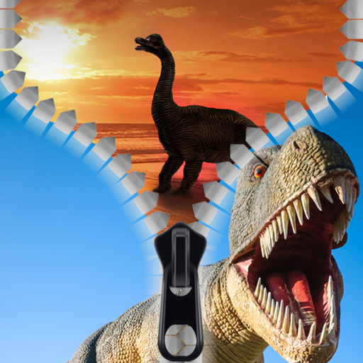 Dinosaur Zipper Lock Screen