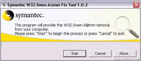 W32.Swen.A@mm Removal Tool