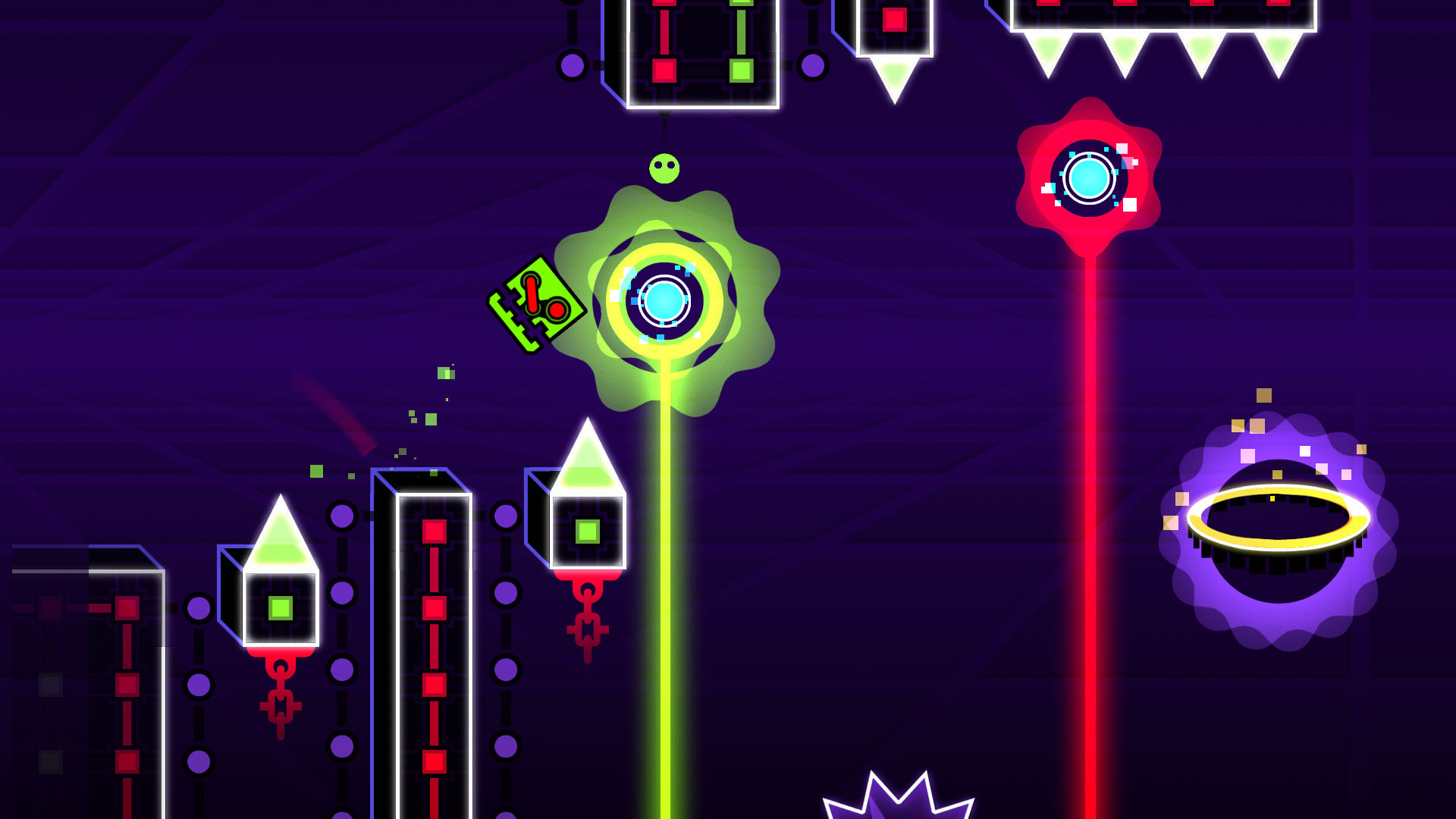 how to jump on geometry neon dash