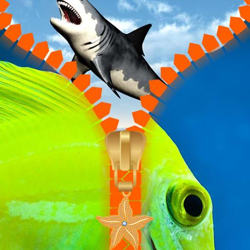 Fish Zipper Lock Screen