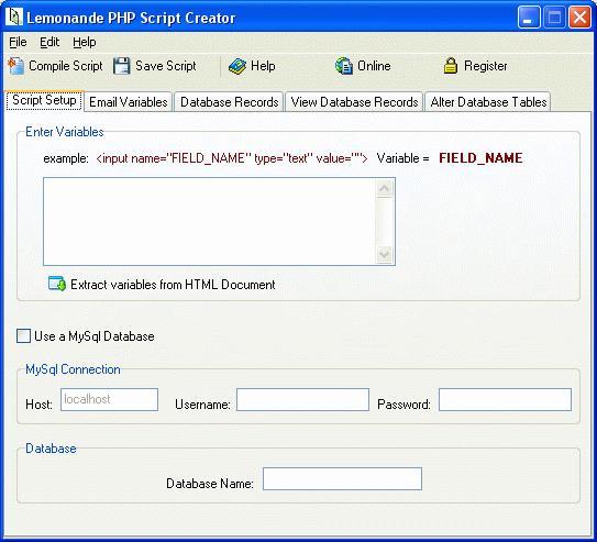 Lemonade PHP Script Creator