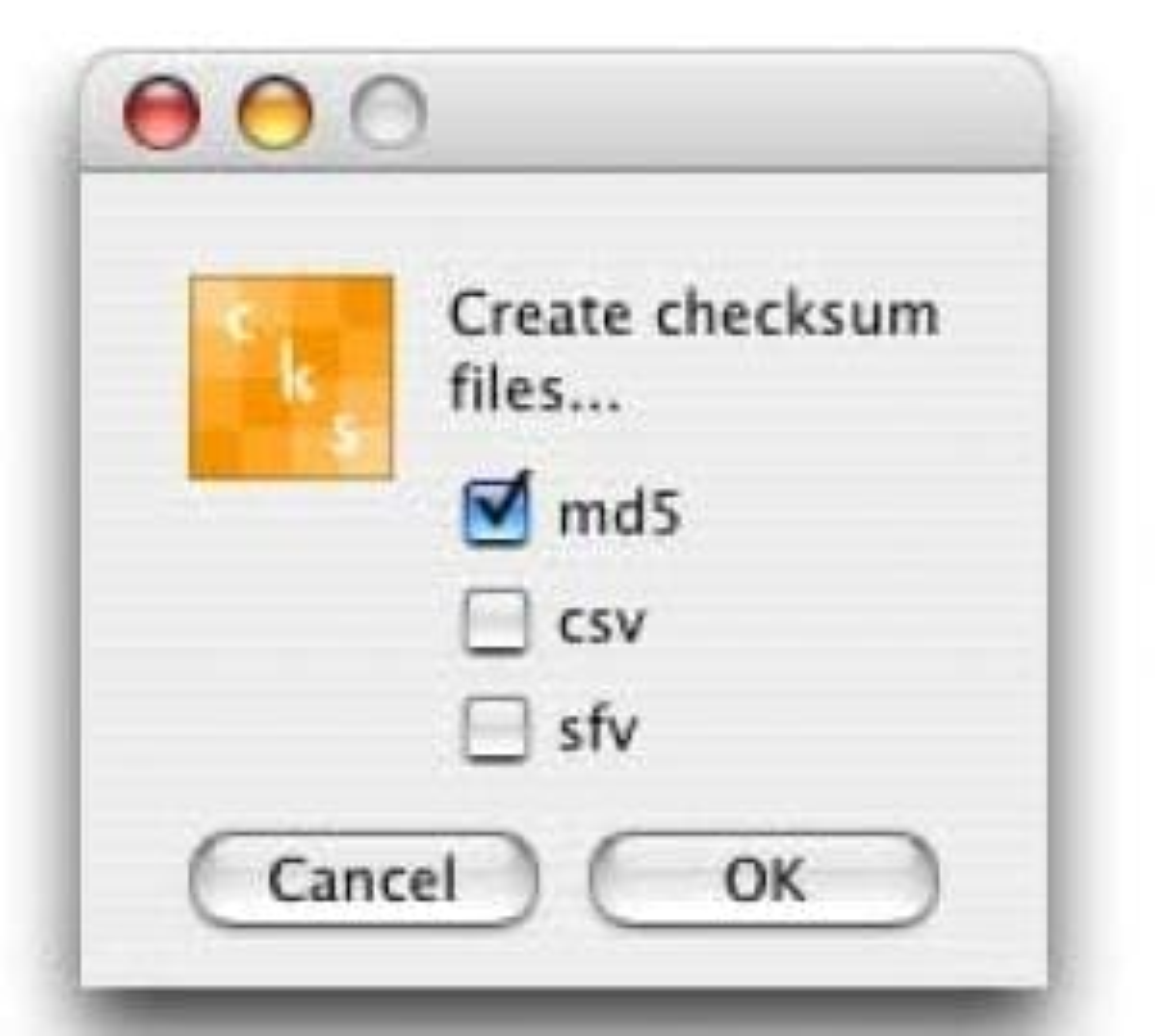 checkSum+