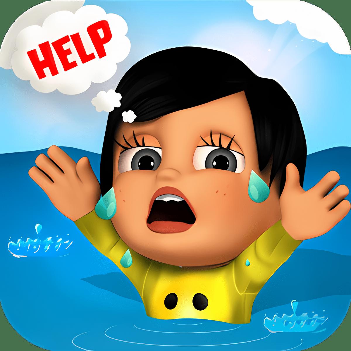 Niños salvamento en el agua