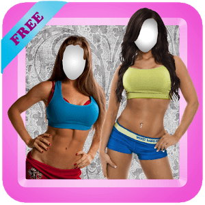 Fitness Girls Photo Montage