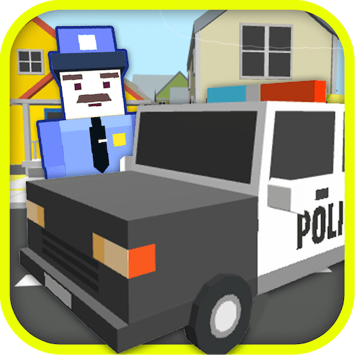 Blocky Police Car Simulator 3D