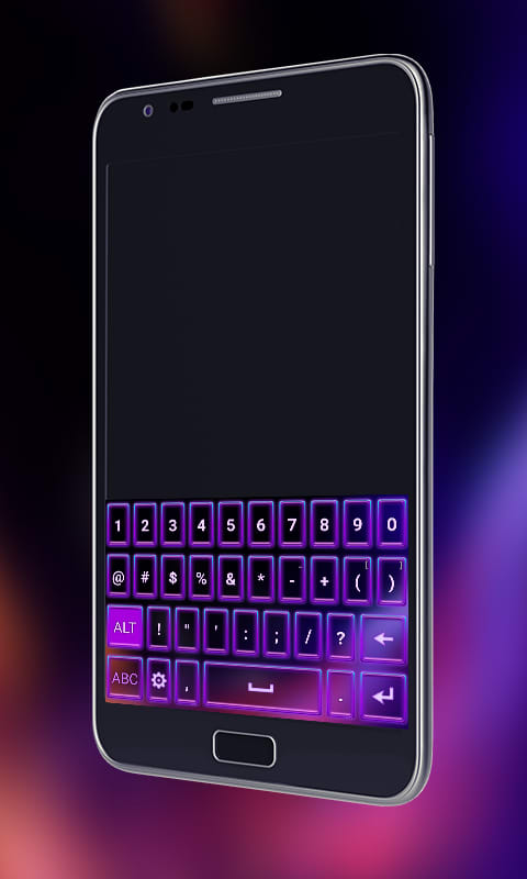 Neon Keyboard Theme