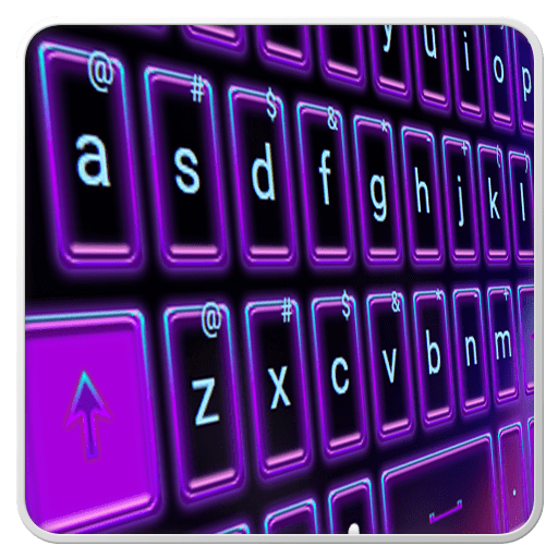 Neon Keyboard Theme 1