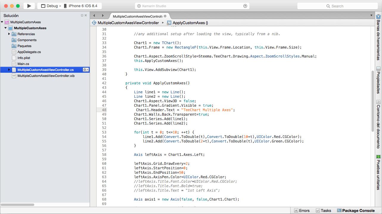 TeeChart NET for Xamarin.iOS